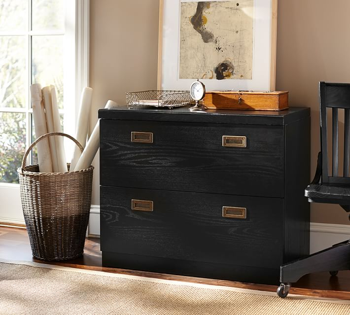 Beautiful Black Brown File Cabinet Lateral File Cabinet Pottery Barn