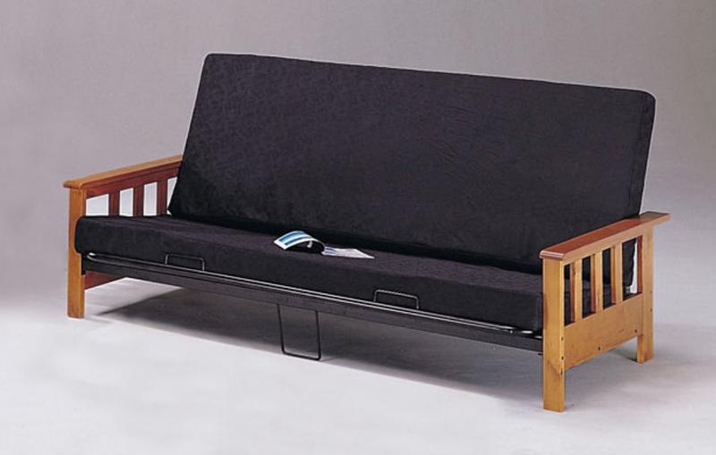Beautiful Black Wood Futon Frame Bedroomdiscounters Futons
