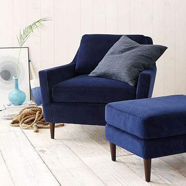 Beautiful Blue Accent Chair With Ottoman Best 25 Navy Accent Chair Ideas On Pinterest Navy Blue Accent