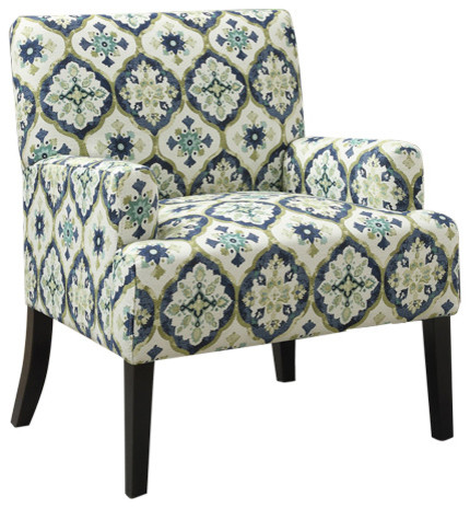 Beautiful Blue And Gray Accent Chairs Coaster Geometric Pattern Accent Chair Blue And Green
