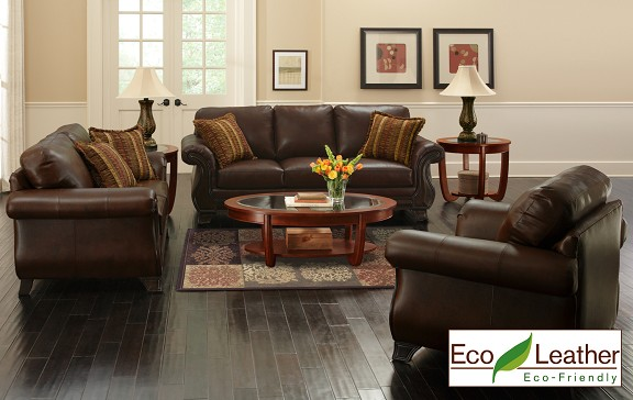 Beautiful Brown Leather Living Room Set 3 Piece Leather Living Room Set From The Roomplace The Roomplace
