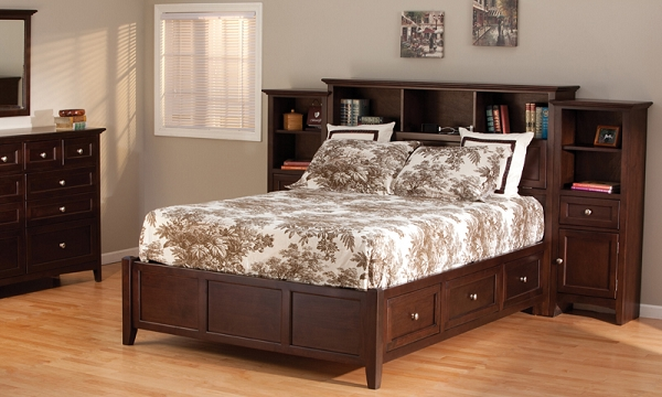 Beautiful California King Platform Bed With Drawers Mckenzie Wood Bookcase Storage Platform Bed Cal King Caffe