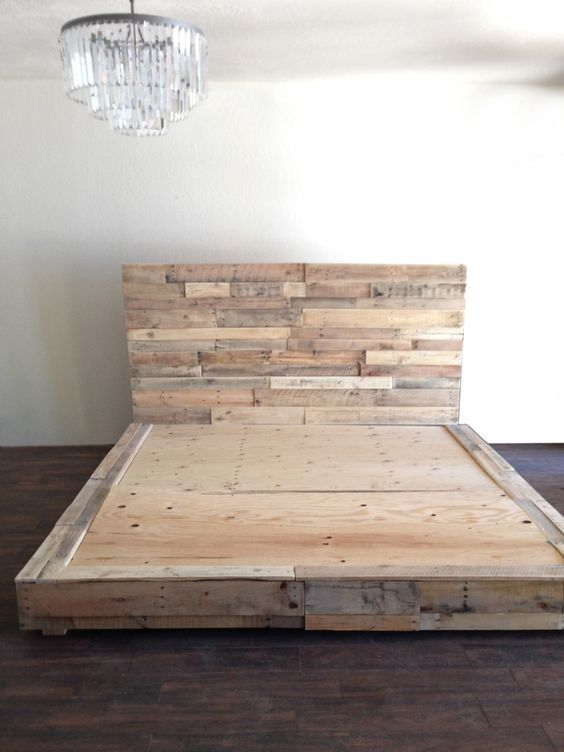 Beautiful California King Wood Platform Bed Frame Reclaimed Wood Platform Bed Base Pallet Natural Twin Full Queen