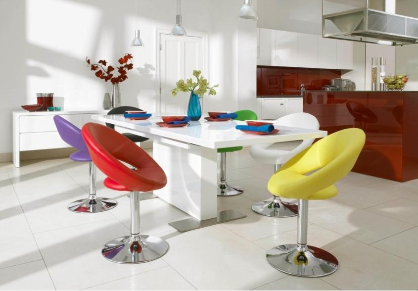 Beautiful Coloured Dining Room Chairs 20 Photos Colourful Dining Tables And Chairs Dining Room Ideas