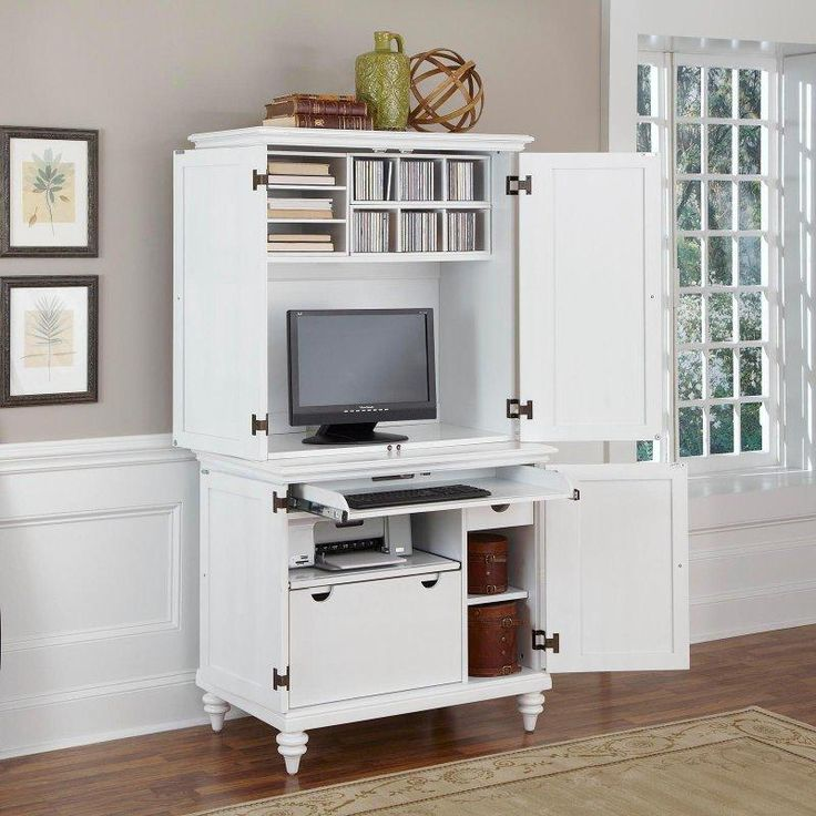 Beautiful Computer Cabinets For Home Office Best 25 Computer Armoire Ideas On Pinterest Craft Armoire