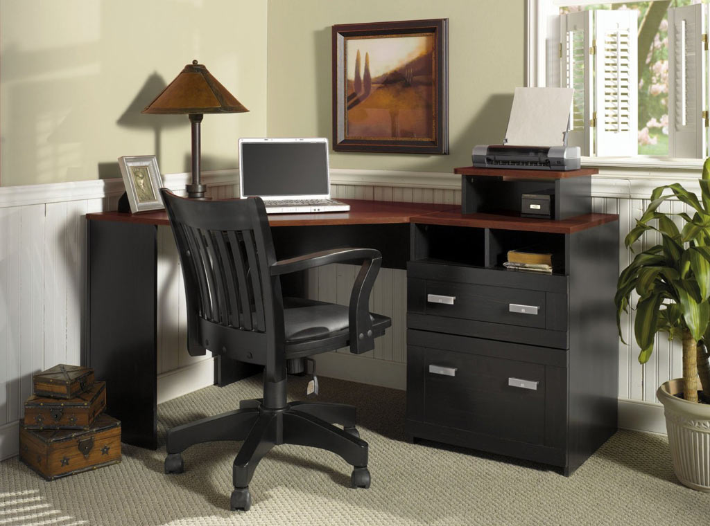 Beautiful Corner Office Furniture Small Corner Desks Wood All Home Ideas And Decor Simple But