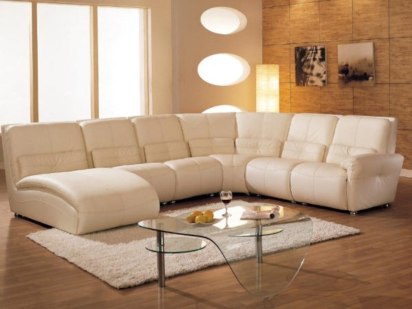 Beautiful Cream Leather Chaise Lounge Modish Unique Living Room Sets Using Cream Leather Upholstery For
