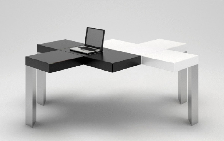 Beautiful Creative Office Table Creative Black N White Table Furniture Design Blog Museum Of