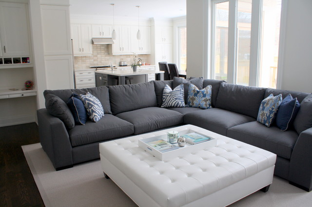 Beautiful Dark Gray Sectional Sofa Living And Family Rooms