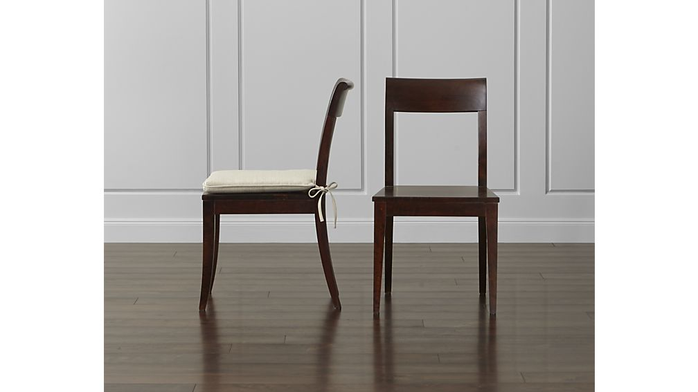 Beautiful Dark Wood Dining Chairs Cabria Dark Wood Dining Chair Crate And Barrel