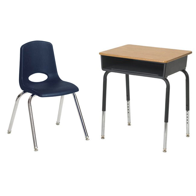 Beautiful Desk And Chair Ecr4kids Classroom Package 24 Open Front Desks 24 Chairs 12 H