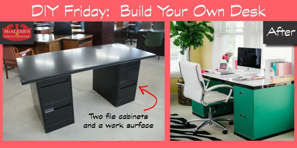 Beautiful Desk And File Cabinet Diy Friday Build Your Own File Cabinet Desk Mcaleers Office