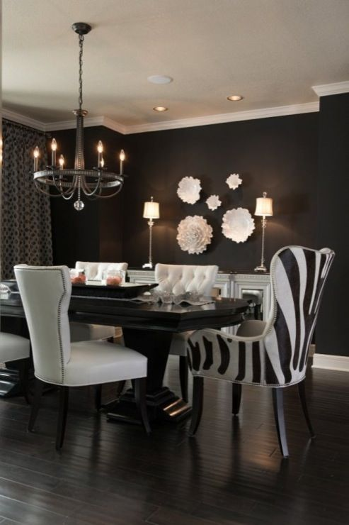 Beautiful Dining Room Chairs Black And White Best 25 Black Dining Rooms Ideas On Pinterest Black Dining Room