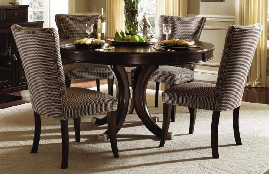 Beautiful Dining Room Tables Round Elegant Formal Dining Room Design With Espresso Finish Round