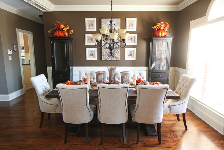 Beautiful Dinner Room Tables Trend Dining Room Table Decorating Ideas With Fall Dining Room