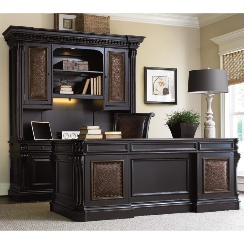 Beautiful Executive Desks For Home Office Hooker Furniture Telluride 76 Executive Desk With Leather Top