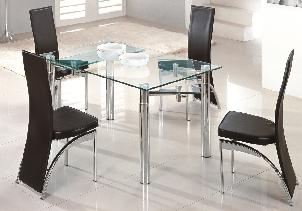 Beautiful Extending Glass Dining Table And Chairs Smart Extendable Glass Dining Table Give Elegant Look
