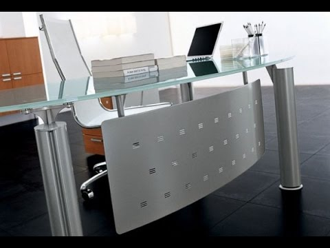 Beautiful Glass Office Desk Glass Office Desk And Glass Desks For Home Office Furniture Youtube