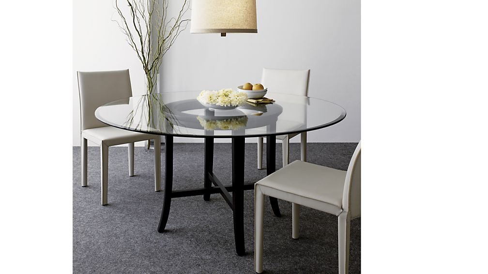 Beautiful Glass Top Dining Table Ebony Dining Table Base Crate And Barrel