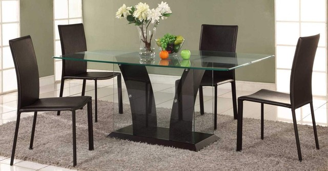 Beautiful Glass Top Modern Dining Table Cute Glass Top Dining Room Tables Rectangular Plans Free Dining