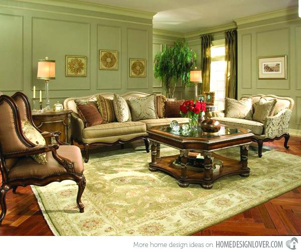 Beautiful Green Living Room Set Wondrous Victorian Style Living Room Set Green Living Room In