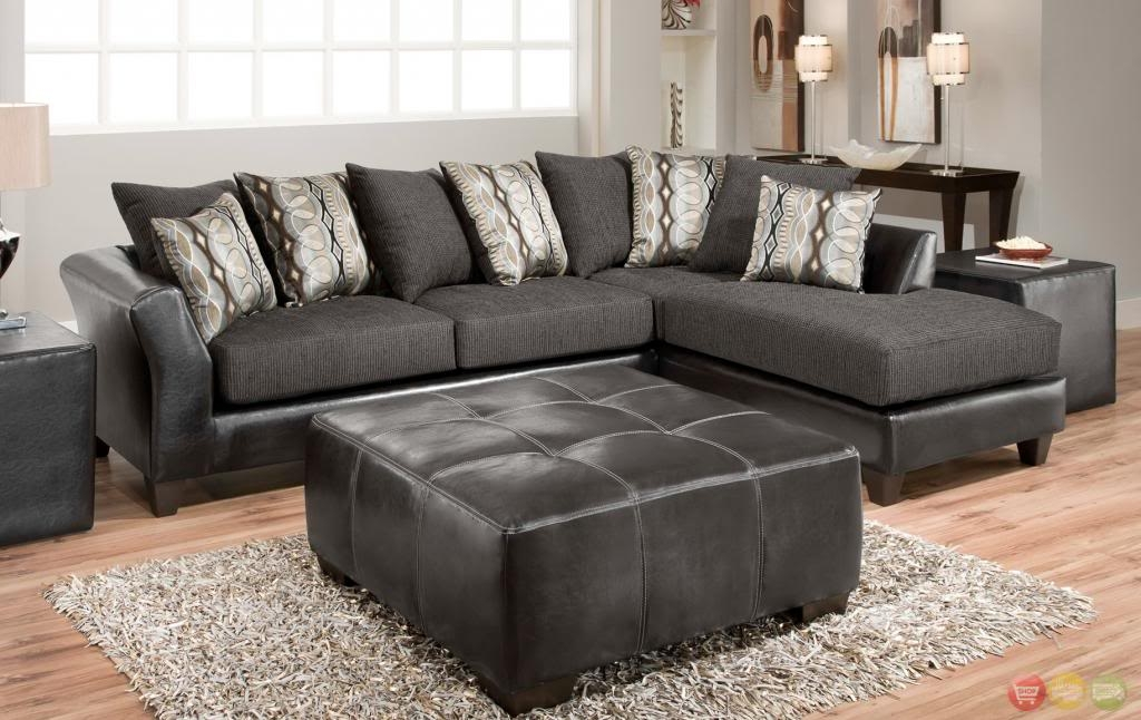 Beautiful Grey Leather Chaise Lounge Sectional Sofa With Chaise Sofas Fabric Large Grey Coffee Table