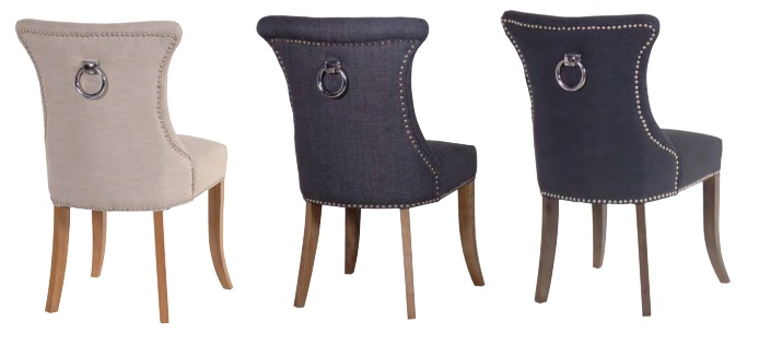 Beautiful Grey Studded Dining Room Chairs Ring Back Studded Dark Grey Dining Chair