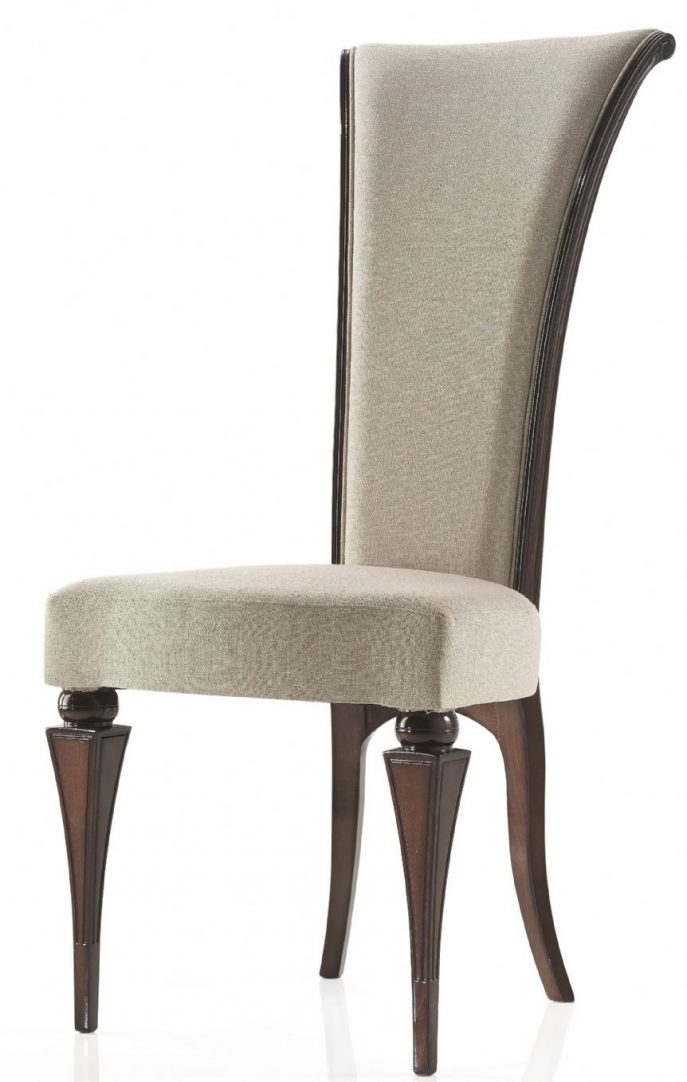 Beautiful High Back Parson Dining Chairs Furniture High Back Dining Chairs Grey Fabric High Back Dining