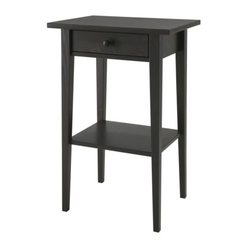 Beautiful Ikea End Tables With Drawers Hemnes Nightstand Black Brown Ikea