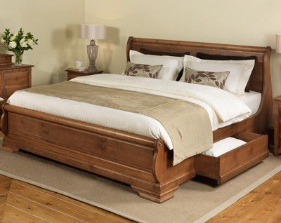 Beautiful King Size Wood Bed Frame Solid Wooden Sleigh Beds Up To 8ft Wide Revival Beds Uk Beds