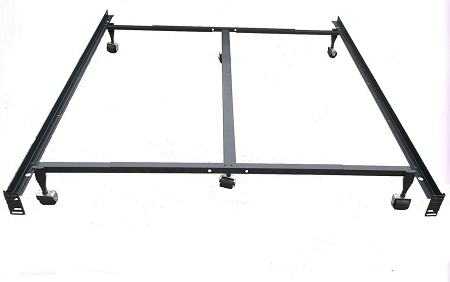 Beautiful King Steel Bed Frame Heavy Duty Steel Metal Bed Frame With Casters Use With Headboard