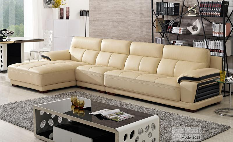 Beautiful L Shaped Chaise Sofa Free Shipping European Modern Leather Sectional Sofa Classical