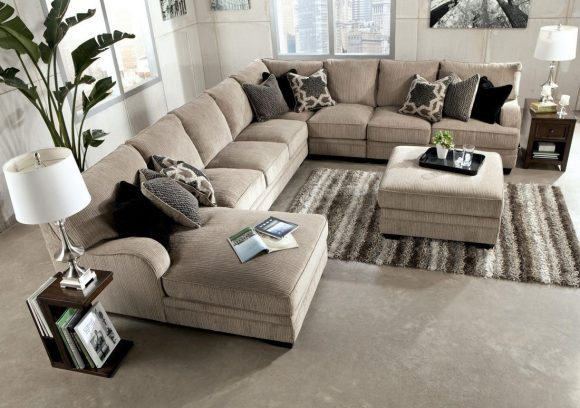 Beautiful Large Sectional Sofa With Ottoman Amazing Large Sectional Sofa With Ottoman Reloc Homes With Regard