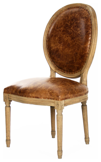 Beautiful Leather Back Dining Chairs French Country Louis Xvi Oval Back Leather Dining Side Chair
