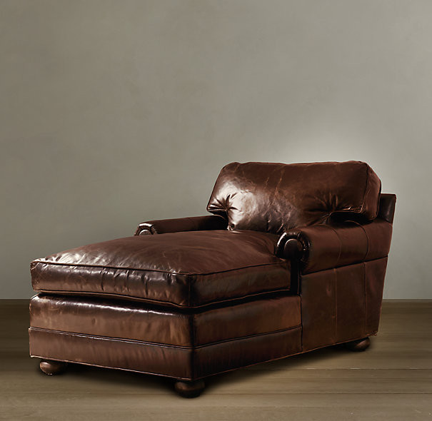 Beautiful Leather Chaise Lounge Chair Dark Brown Leather Chaise Lounge Chair Plushemisphere