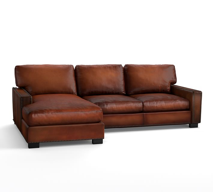 Beautiful Leather Couch With Chaise Turner Square Arm Leather Sofa With Chaise Sectional With