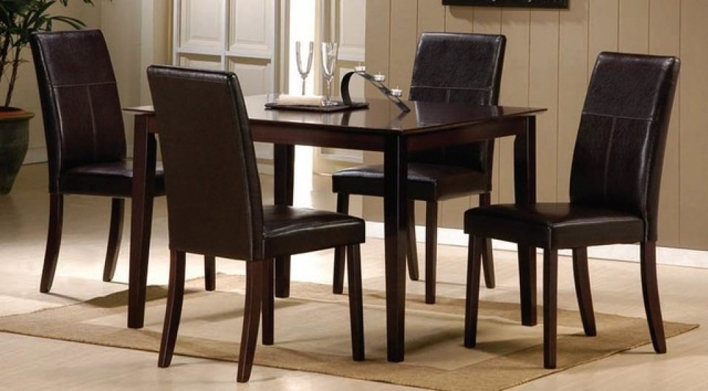 Beautiful Leather Dining Chairs Set Of 4 Dining Chairs Amazing Dining Room Chairs Set Of 4 For Small