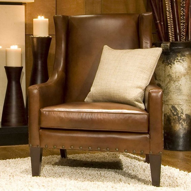 Beautiful Leather Living Room Chair Elements Fine Home Furnishings Bristol Top Grain Leather Accent