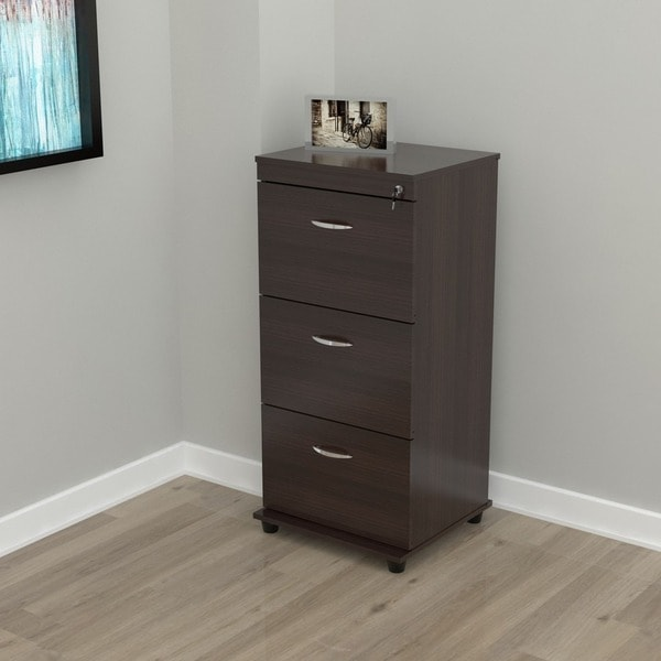 Beautiful Locking File Cabinet Three Drawer Espresso Locking File Cabinet Free Shipping Today