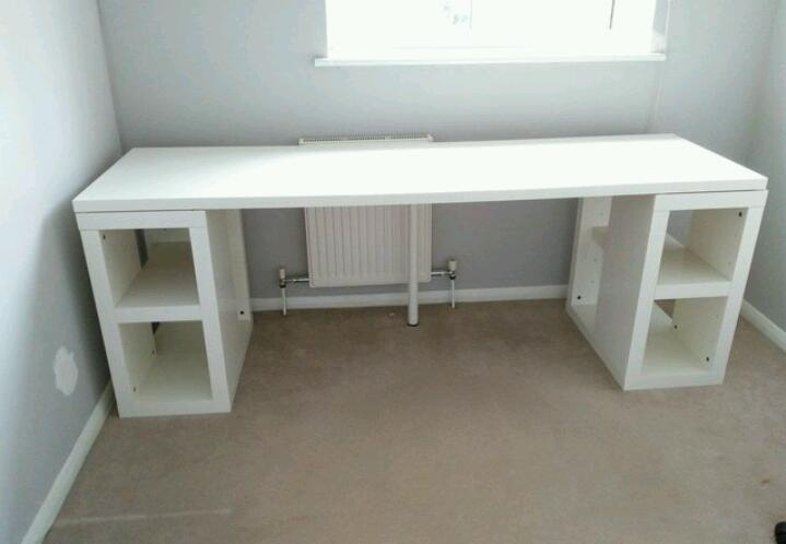 Beautiful Long Computer Desk White Ikea Long Study Or Computer Desk Very Good Condition In In