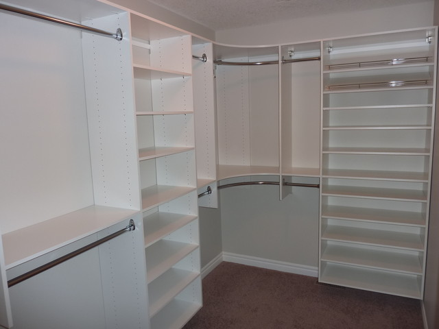 Beautiful Master Bedroom Closet Shelving Master Bedroom Closet With Shoe Shelving On Right Modern