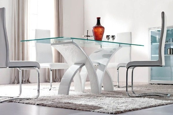Beautiful Modern Glass Dining Room Sets Modern Glass Dining Room Tables Cool Decor Inspiration Dining Room