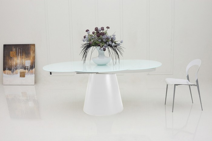 Beautiful Modern Round White Dining Table Modern Round Extendable White Dining Table