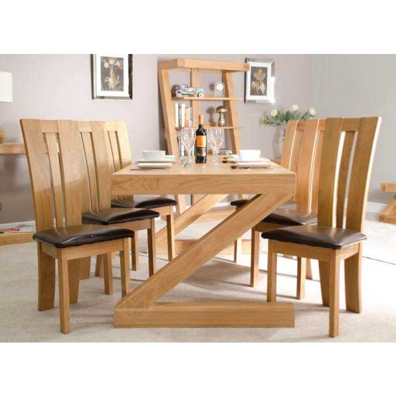 Beautiful Oak Dining Table Z Solid Oak Designer Large 6 Seater Dining Table With Chairs
