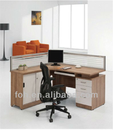 Beautiful Office Workstation Computer Wood Traditional Office Workstation Computer Desk Glass Wall