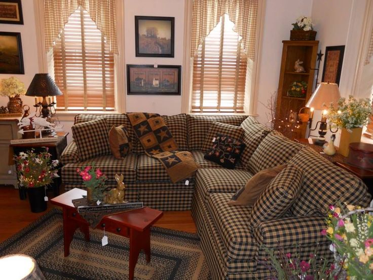 Beautiful Plaid Chairs Living Room 171 Best Primitive Family Living Rooms Images On Pinterest