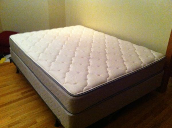 Beautiful Queen Mattress And Box Queen Pillow Top Mattress Box Spring Frame Set Classified Ad