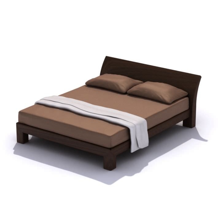 Beautiful Queen Size Bed Frame 3d Modern Queen Size Bed Frame Cgtrader