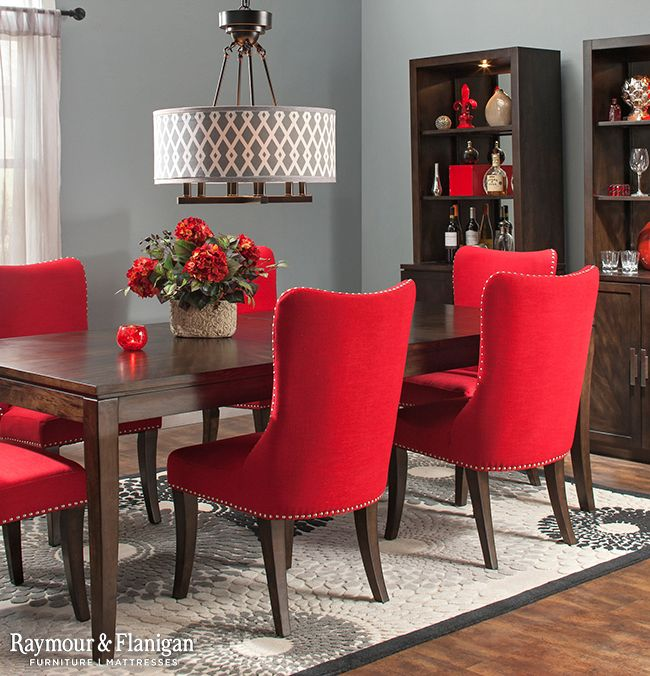 Beautiful Red Dining Room Chairs Download Red Upholstered Dining Room Chairs Gen4congress