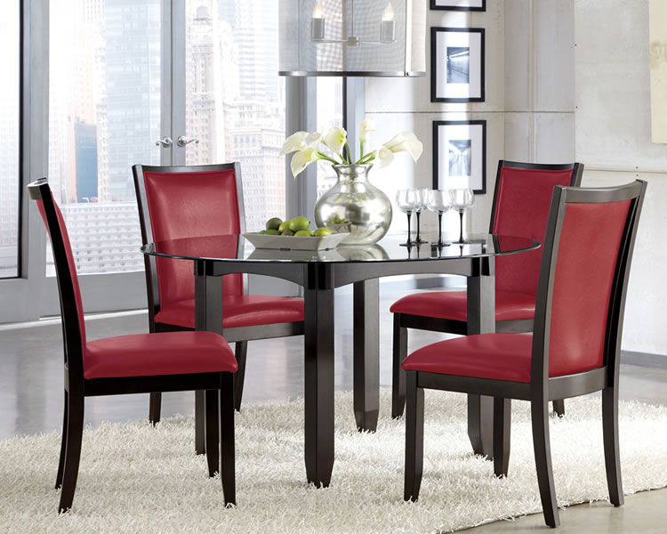 Beautiful Red Upholstered Dining Room Chairs Download Red Upholstered Dining Room Chairs Gen4congress